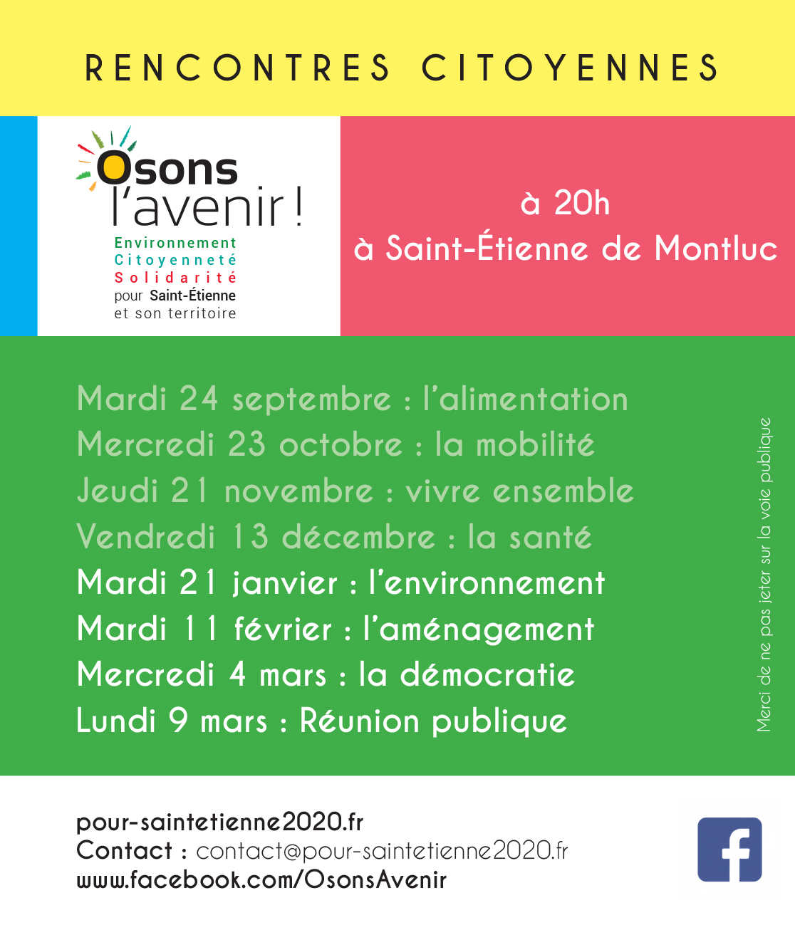 Dates rencontres citoyennes